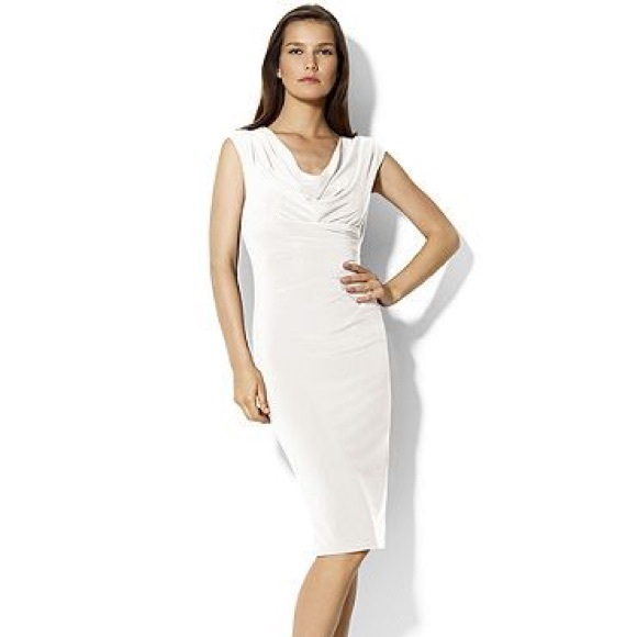 Lauren Ralph Lauren Dresses & Skirts - Ralph Lauren size 10 cream ruched draped dress